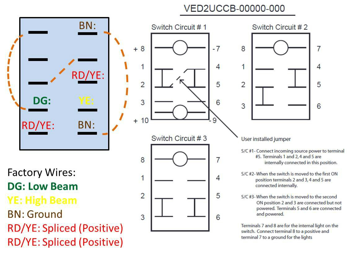 Awd  U0026 Headlight Replacement Switch Wiring Diagrams For