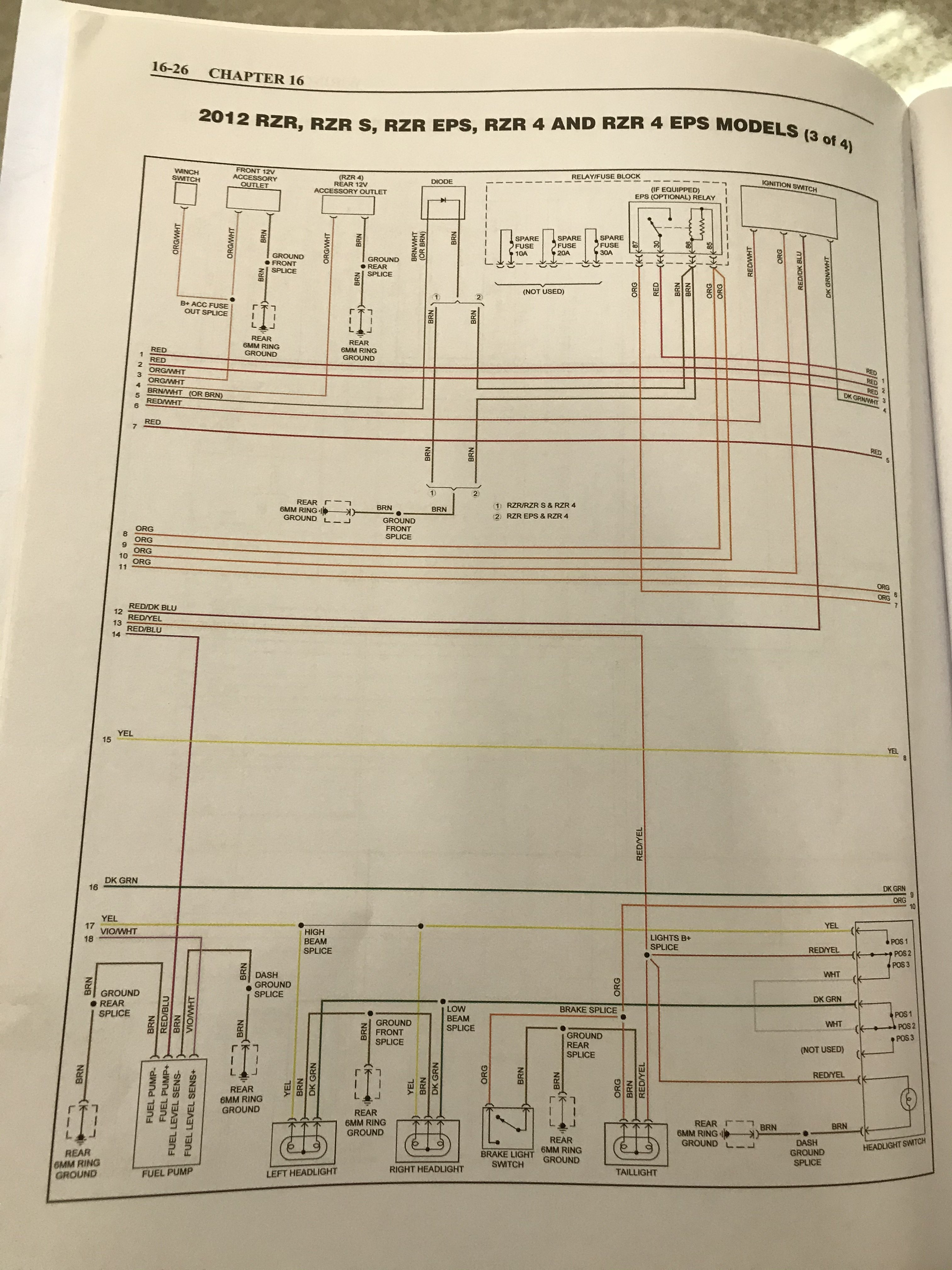 Polaris Rzr 800 Wiring Schematic - Wiring Diagram