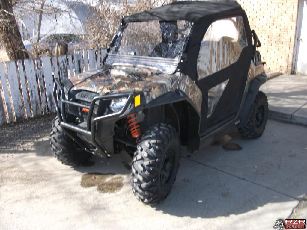 anyone running the oem polaris canvas cab or prp doors ...