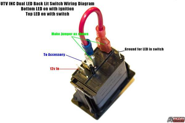 4wd rocker switch wiring question polaris rzr forum rzr forums net the diagram above was provided by utv inc but that wiring configuration will not work for the 4wd when the 4wd switch is flipped to the up on position