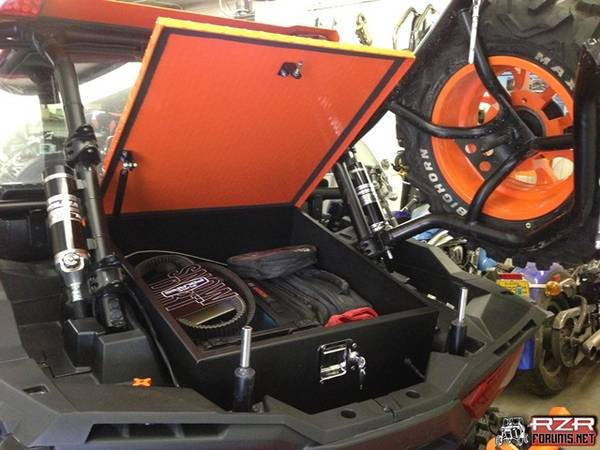 The aluminum cargo box from ISOTA Offroad is a great way to carry a cooler and lots of other gear inside of a lockable container that is secured to the bed. & My RZR Lock and Ride cooler SUCKS! Other options? - Page 2 - Polaris ...