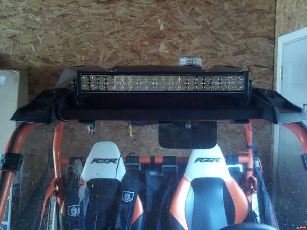 Led Light Bar Mounting On Roof Polaris Rzr Forum Rzr