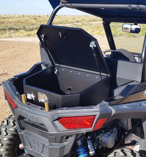 All Aluminum featuring precision CNC cut and formed construction with dual gas struts and a lockable latch. Two quart storage compartment to keep your oil ... & New Cargo Box For the 900 Trail 900S and 1000S from ISOTA OFFROAD ...