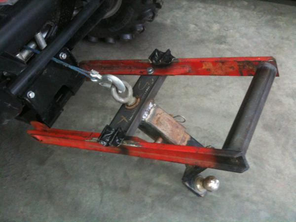 My Homemade Front Hitch Polaris Rzr Forum Rzr Forums Net
