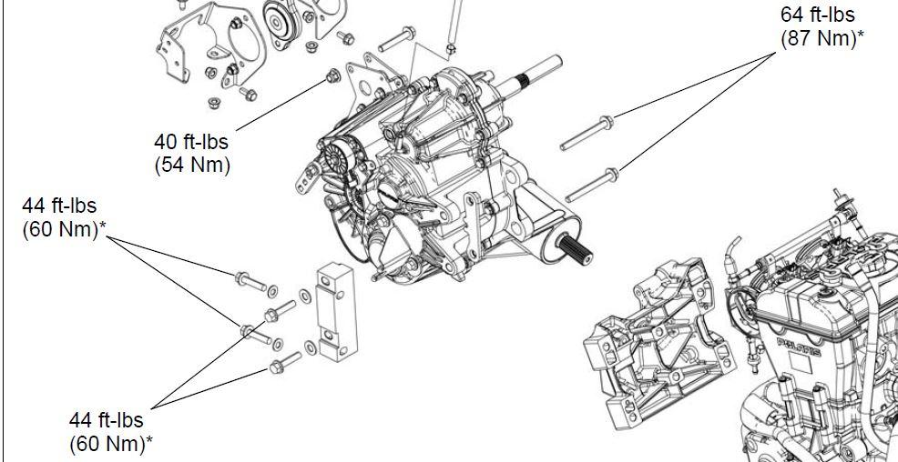 transmission bolts torque - polaris rzr forum