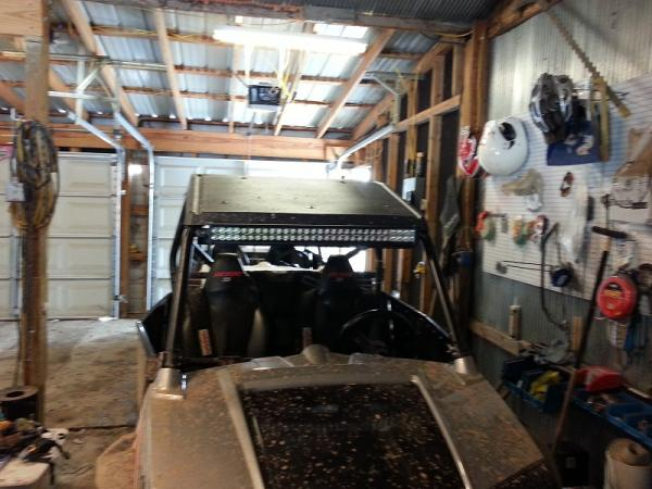 30 led light bar how did you mount yours polaris rzr forum and yes i know she is very dirty been too cold to wash mozeypictures Choice Image